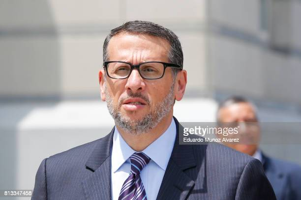 Former Port Authority official David Wildstein exits the federal court on July 12 2017 in Newark New Jersey Federal prosecutors recommended that...
