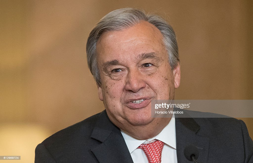 Former Portuguese Prime Minister Is Named As The Next Secretary-general Of The United Nations : News Photo