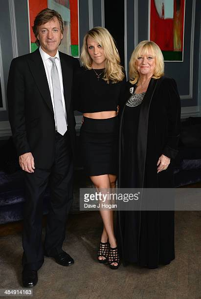 Former presenters Richard Madeley and Judy Finnigan with their daughter Chloe pose as they attend the This Morning 25th Anniversary at Home House on...