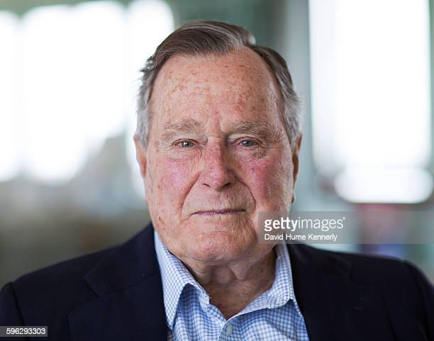 Former President and Director of Central Intelligence under President Gerald R Ford George HW Bush at his home in Kennebunkport Maine June 17 2015...