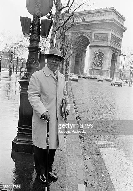 Former President and selfproclaimed Emperor of Central African Republic JeanBedel Bokassa in exile in Paris