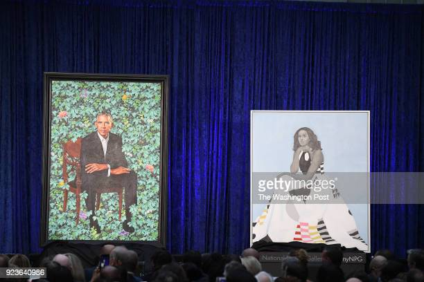 Former President Barack Obama and former First Lady Michelle Obama have their portraits unveiled at the Smithsonian National Portrait Gallery on...