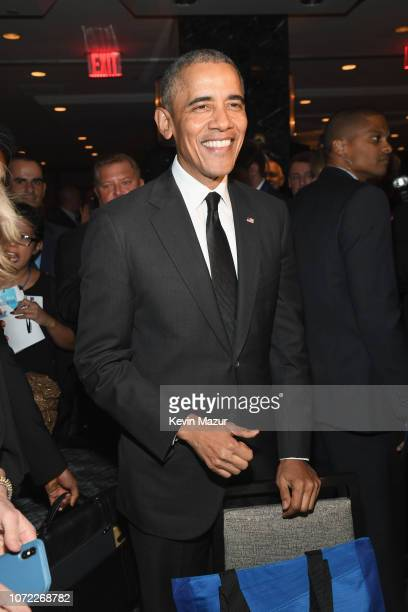 Former President Barack Obama attends the 2019 Robert F Kennedy Human Rights Ripple Of Hope Awards on December 12 2018 in New York City
