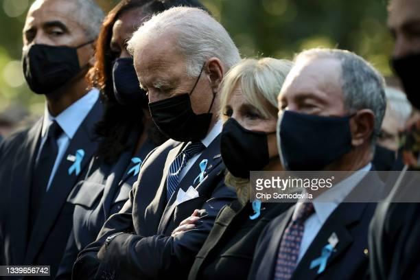 Former President Barack Obama, former First Lady Michelle Obama, President Joe Biden, First Lady Jill Biden and former New York City Mayor Michael...