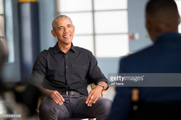 Former President Barack Obama sits down for a one-on-one interview with Good Morning America Co-Anchor Michael Strahan for Juneteenth: Together We...