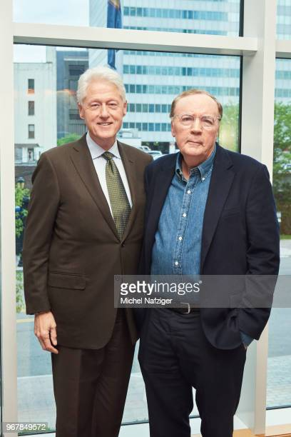 Former president Bill Clinton and author James Patterson are photographed for Le Parisien Newspaper on May 22 2018 in New York City PUBLISHED IMAGE
