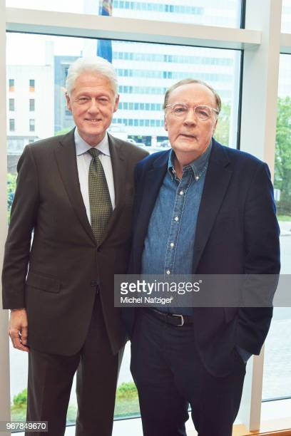 Former president Bill Clinton and author James Patterson are photographed for Le Parisien Newspaper on May 22 2018 in New York City