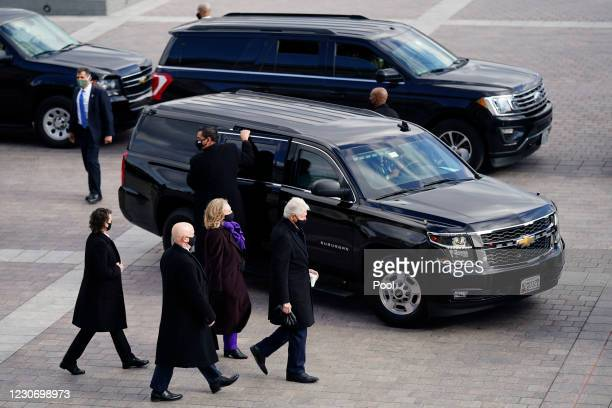 Former President Bill Clinton and former Secretary of State Hillary Clinton after the inauguration of President Joe Biden on January 20 in...