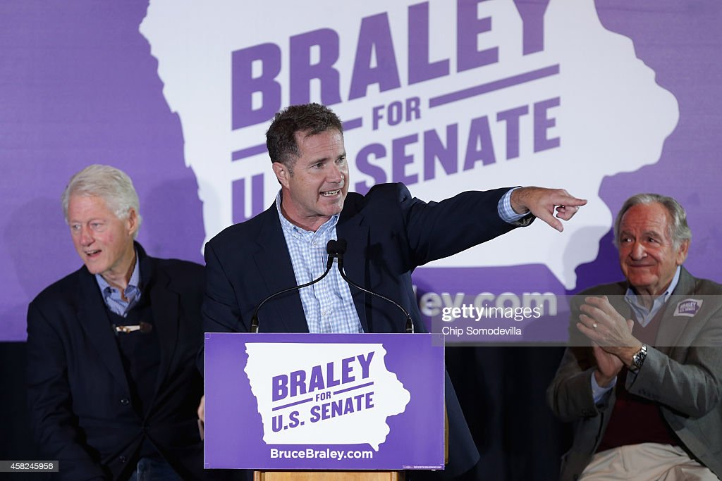 Bill Clinton Campaigns With IA Senate Candidate Bruce Braley