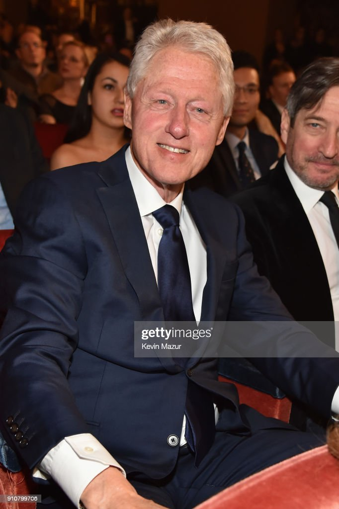 Former President Bill Clinton attends MusiCares Person of the Year honoring Fleetwood Mac at Radio City Music Hall on January 26, 2018 in New York City.
