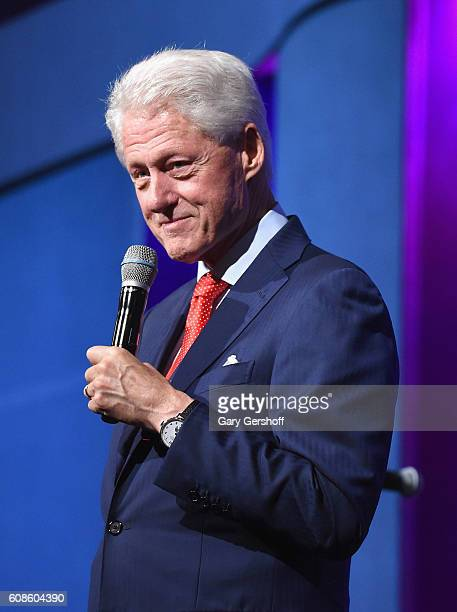 Former President Bill Clinton attends the 10th Annual Clinton Global Citizen Awards at Sheraton New York Times Square on September 19, 2016 in New...