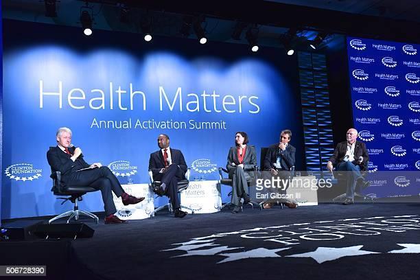 Former President Bill Clinton CEO Detroit Medical Center Dr Reginald J Eadie National Bureau of Economic Research Dr Ellen Meara Author Dan Buettner...