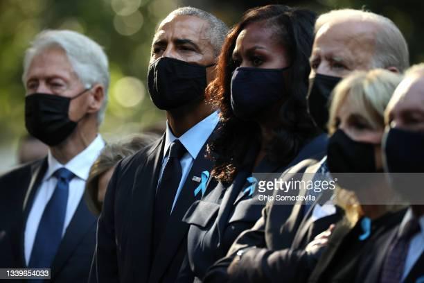 Former President Bill Clinton, former President Barack Obama, former First Lady Michelle Obama, President Joe Biden, First Lady Jill Biden and former...