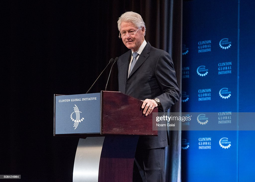Former President Bill Clinton speaks at The Clinton Global Initiative Winter Meeting at Sheraton New York Times Square on February 4, 2016 in New York City.