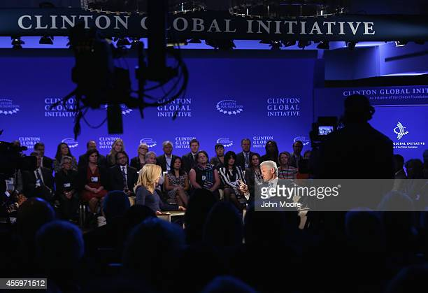 Former President Bill Clinton speaks during a breakout session hosted by Becky Quick coanchor of Squawk Box on CNBC at the Clinton Global Initiative...