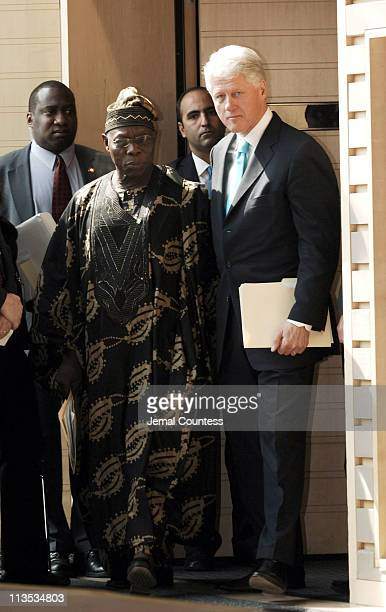 Former President Bill Clinton with Olusegun Obasanjo President of Nigeria