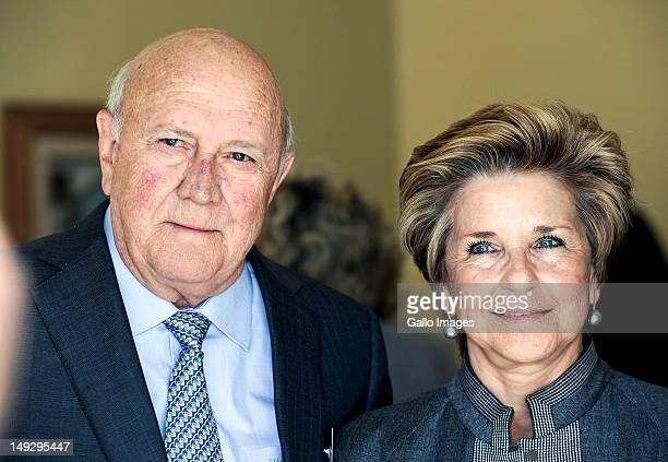 Former president FW de Klerk and his wife Elita Georgiades at an FW de Klerk Foundation conference on the ANC's policy conference outcomes on July 25...