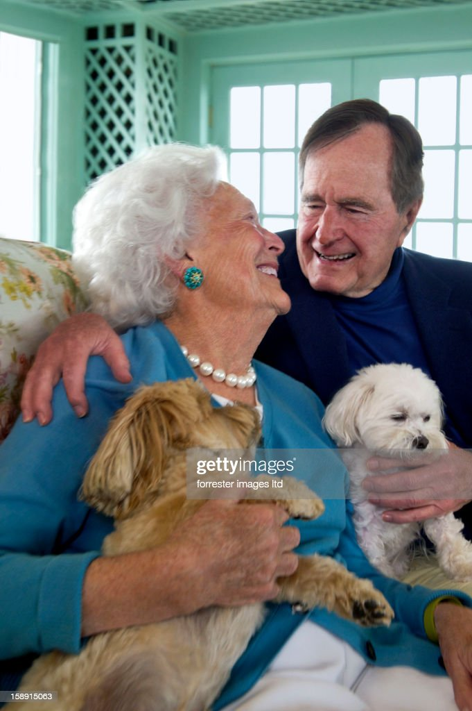 Former President George H. W. Bush and wife former first lady, Barbara Bush are photographed for Parade Magazine on May 29, 2012 in Kennebunk, Maine. COVER