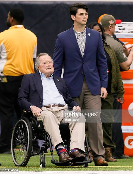 Former President George HW Bush at NRG Stadium on November 5 2017 in Houston Texas Indianapolis Colts beat the Houston Texans 2014