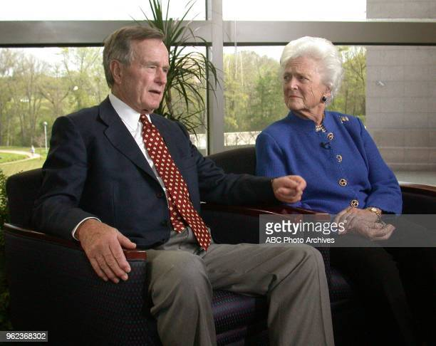 Former President George HW Bush Barbara Bush interview for Good Morning America at the George HW Bush Presidential Library on the campus of Texas AM