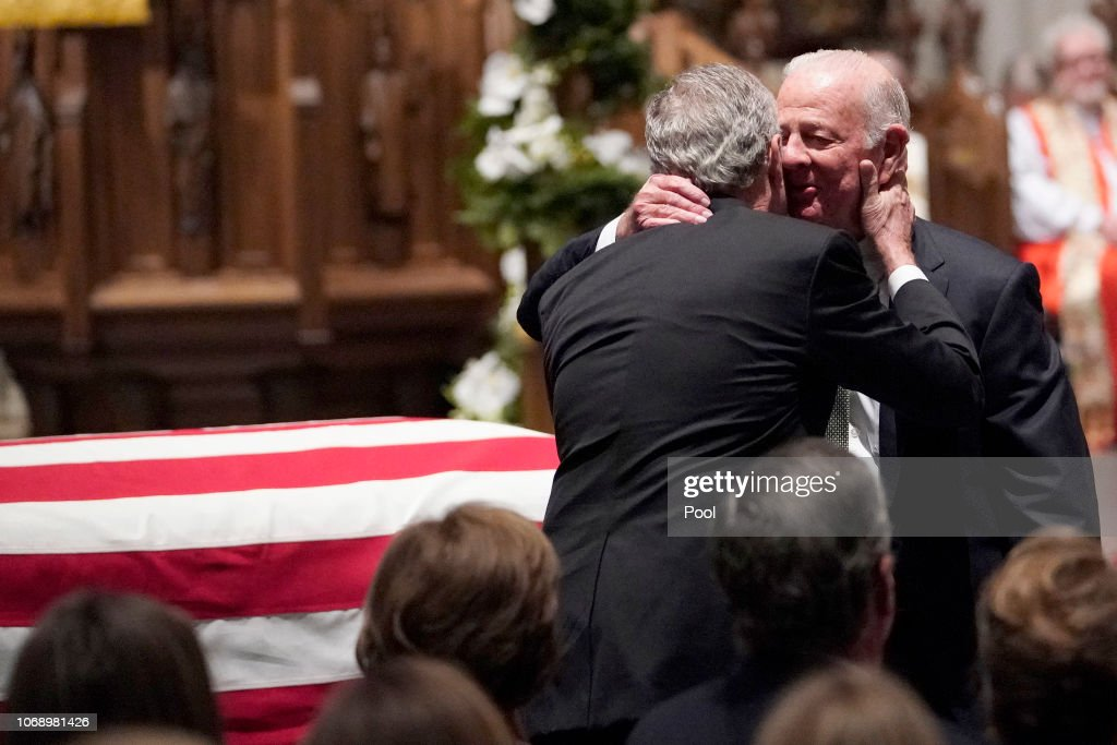 Family and Friends Attend Funeral Service For Pres. George H.W. Bush In Houston : News Photo