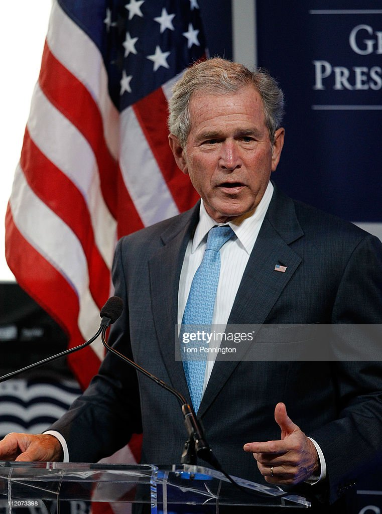 Former U.S. President George W. Bush Hosts Economic Conference At Bush Center : News Photo