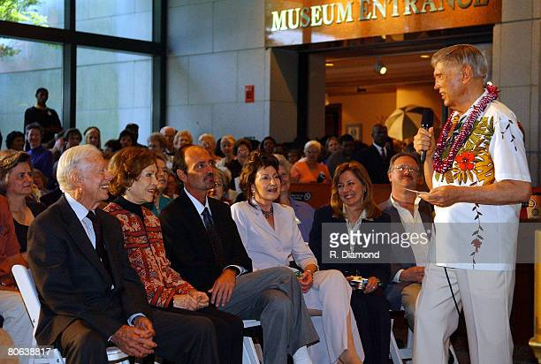 Former President Jimmy Carter and former First Lady Rosalynn Carter with pianist Roger Williams