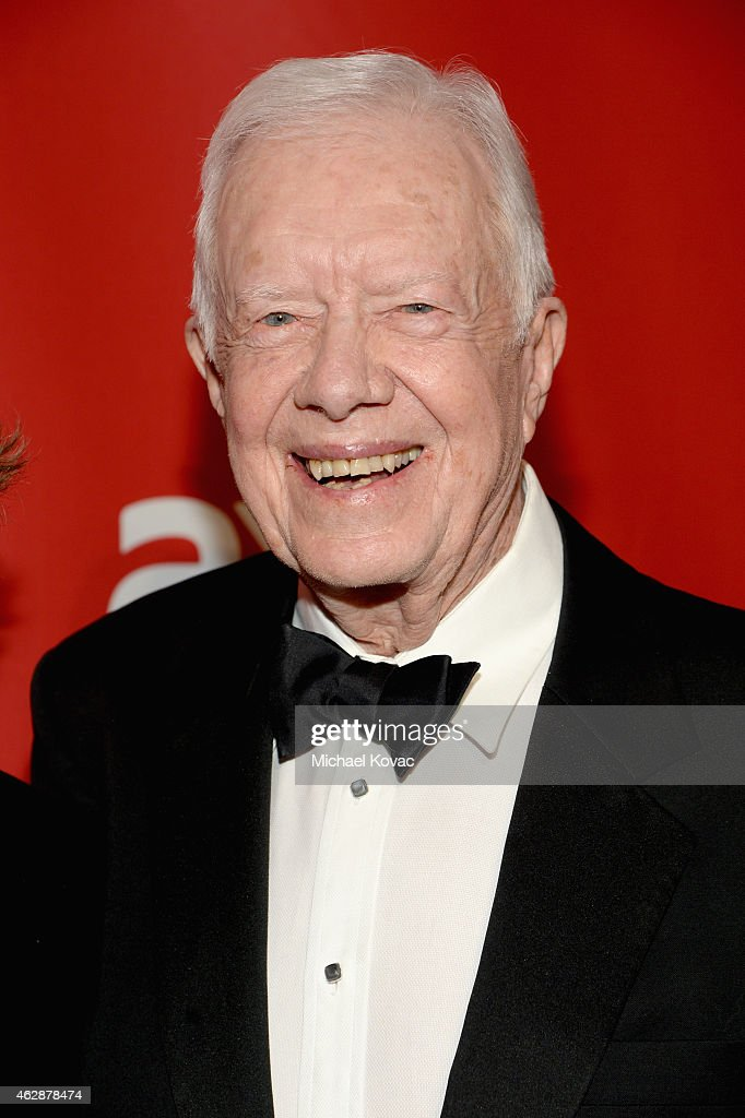 Former President Jimmy Carter attends the 25th anniversary MusiCares 2015 Person Of The Year Gala honoring Bob Dylan at the Los Angeles Convention Center on February 6, 2015 in Los Angeles, California. The annual benefit raises critical funds for MusiCares' Emergency Financial Assistance and Addiction Recovery programs. For more information visit musicares.org.