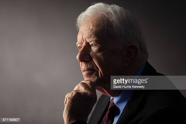 Former President Jimmy Carter interviewed for The Presidents' Gatekeepers project at the Carter Center Atlanta Georgia September 14 2011