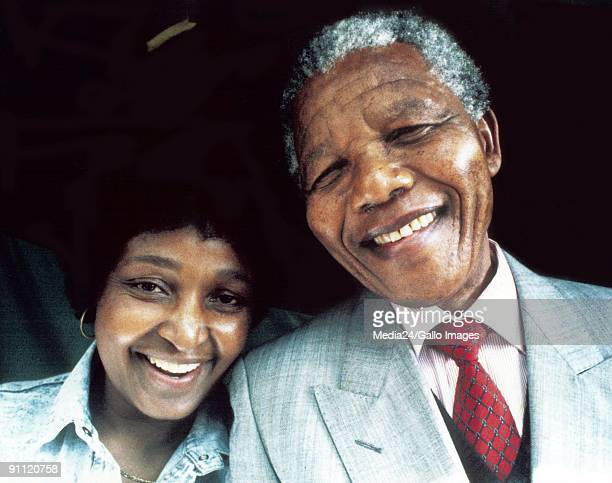 Former President Nelson Mandela and his wife Winnie Madikizela Mandela
