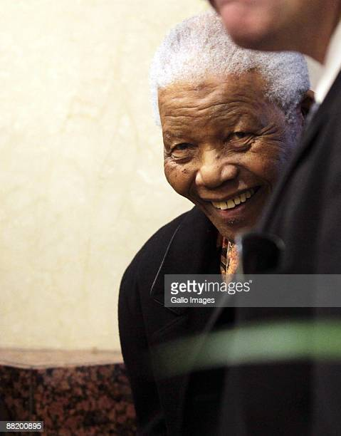 Former President Nelson Mandela attends President Jacob Zuma's presentation of his State of the Nation Address at a joint sitting of the National...