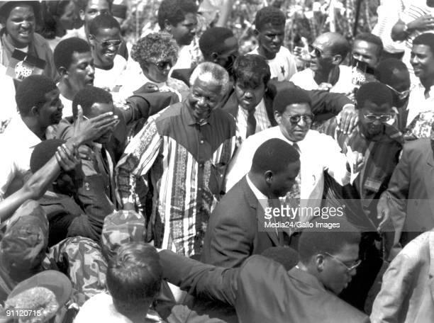 Former President Nelson Mandela during the 1994 elections