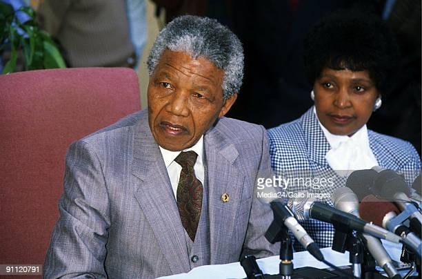 Former President Nelson Mandela with ex wife Winnie