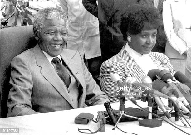 Former President Nelson Mandela with his wife Winnie Madikizela Mandela