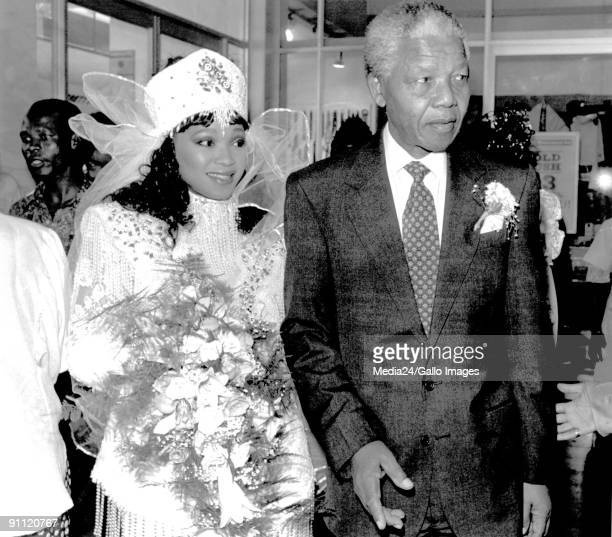 Former President Nelson Mandelas Daughter Zinzi On Her Wedding Day She Married Zwelibangi Hlongwane