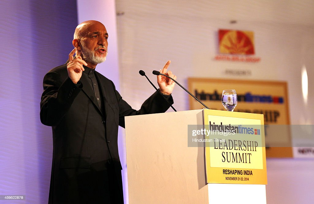 Former President of Afghanistan Hamid Karzai during the