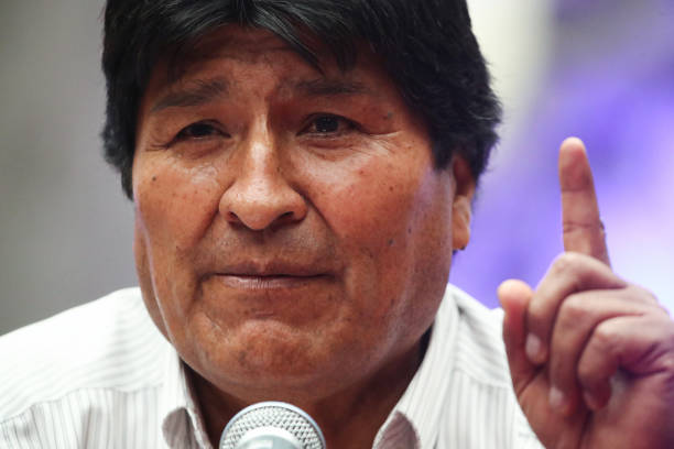 MEX: Evo Morales Holds Press Conference in Mexico City