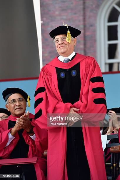Former President of Brazil Fernando Henrique Cardoso receives an Honorary Doctor of Laws Degree from Harvard University at their 365th Commencement...