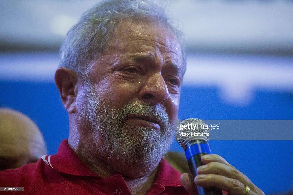 Former Brazilian President Lula Da Silva Questioned Over Petrobras Fraud Inquiry : Fotografia de notícias