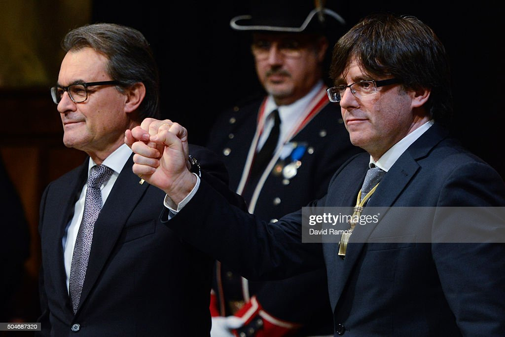 Carles Puigdemont Takes Office As The 130th President Of Catalonia