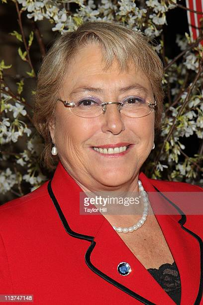 Former President of Chile Michelle Bachelet attends the 10th Annual Women Who Care Luncheon benefiting United Cerebral Palsy of New York City at...