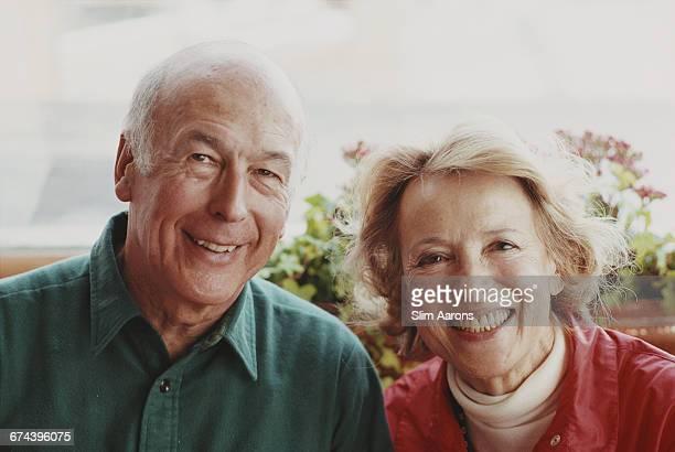 Former President of France, Valéry Giscard d'Estaing and Princess Lilly von und zu Liechtenstein at the exclusive Corviglia Ski Club, St. Moritz,...