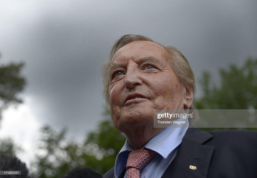 DEU: In Focus: Former DFB President Gerhard Mayer-Vorfelder Dies At 82