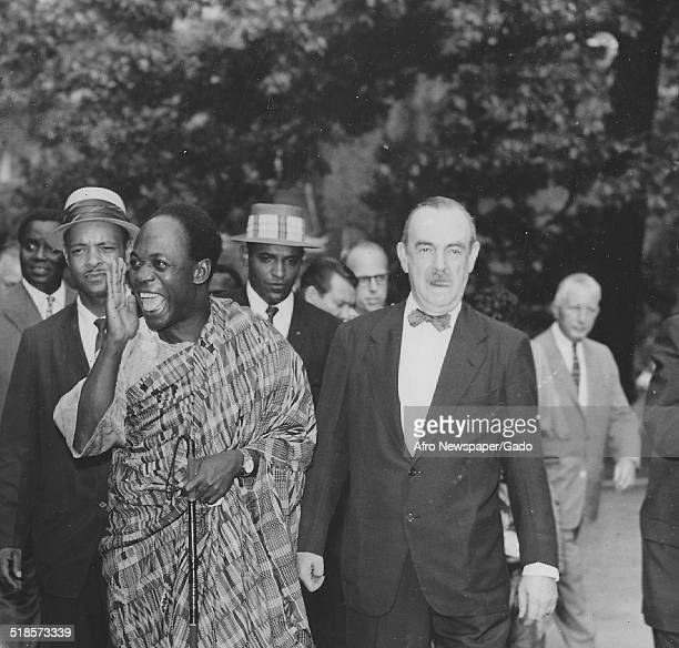 Former president of Ghana Kwame Nkrumah at University of Pennsylvania Philadelphia Pennsylvania 1958
