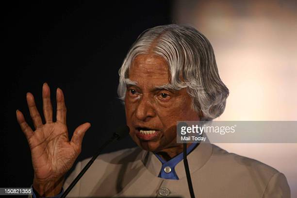 Former President of India Dr APJ Abdul Kalam speaking at the Mail Today Education Conclave 2012 on Thursday 23rd August 2012 in New Delhi
