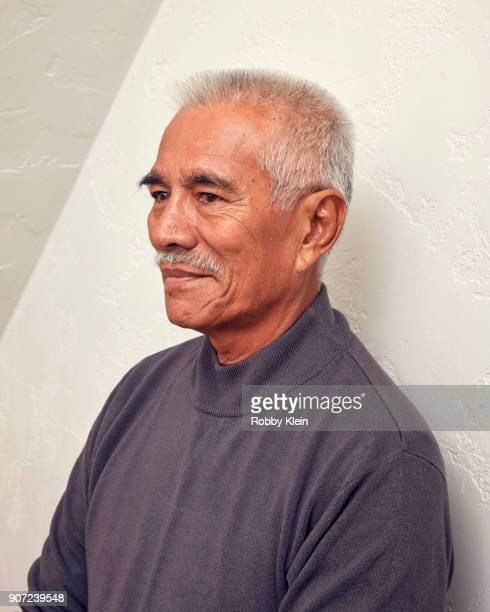 Former President of Kiribati Anote Tong from the film 'Anote's Ark' poses for a portrait in the YouTube x Getty Images Portrait Studio at 2018...