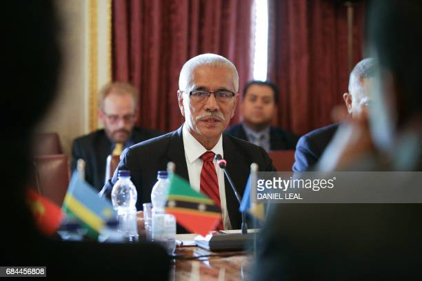 Former President of Kiribati Anote Tong gives a speech at the Regenerative Development to Reverse Climate Change Conference in the Commonwealth...