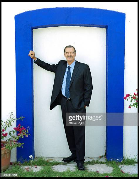 Former President of Mexico politician Vicente Fox poses at a portrait session in 2007