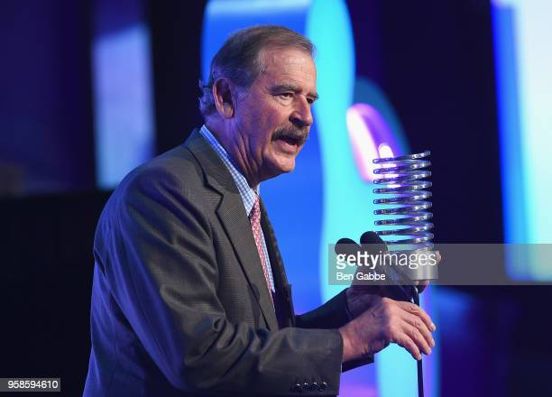 Former President of Mexico Vicente Fox accepts award onstage at The 22nd Annual Webby Awards at Cipriani Wall Street on May 14 2018 in New York City