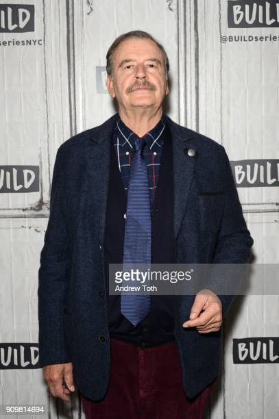 Former President of Mexico Vicente Fox attends the Build Series to discuss the documentary series Let's Move On Beyond Fear False Prophets at Build...